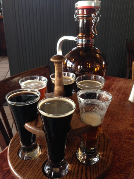 Growlers Brewpub sampler