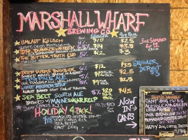 Marshall Wharf Chalkboard
