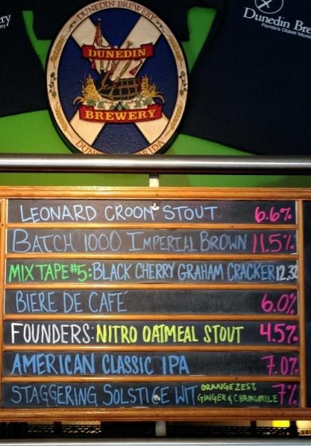 Dunedin Brewery Chalkboard