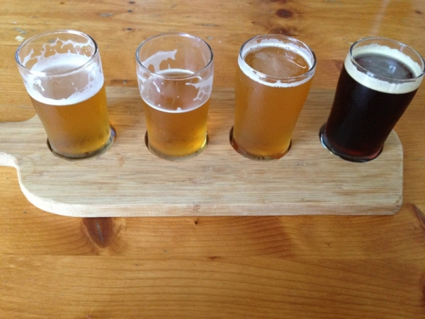 Dunedin Brewery flight
