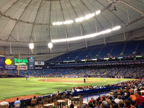 Tropicana Field inside