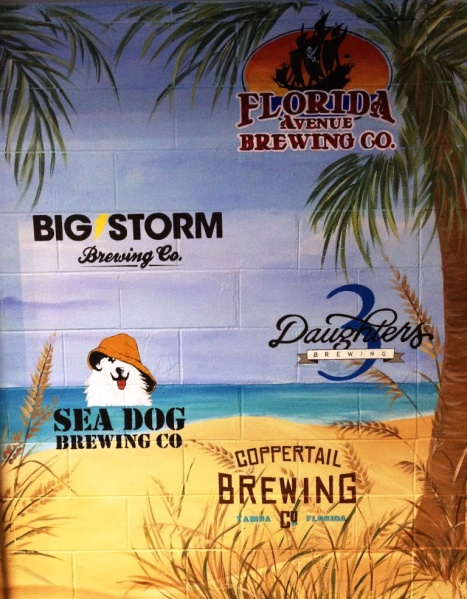Tropicana Field Local Beer Station lineup