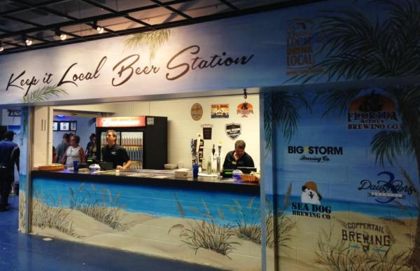 Tropicana Field Local Beer Station