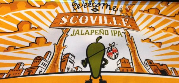 Jailbreak Brewing Company Welcome to Scoville IPA sign