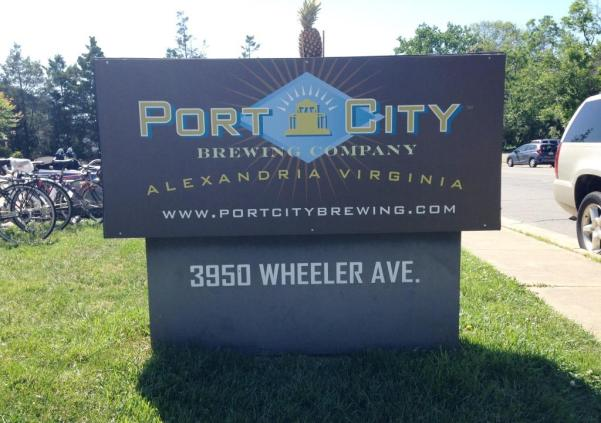 Port City Brewing Company Outside Sign