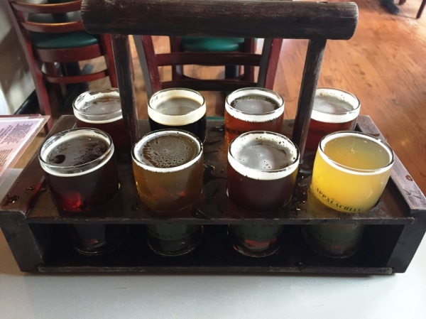 Appalachian Brewing Company sampler rack