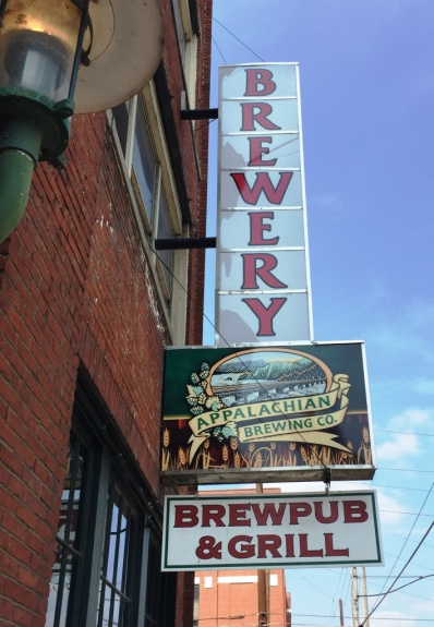 Appalachian Brewing Company sign