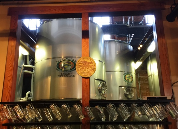 Appalachian Brewing Company tanks