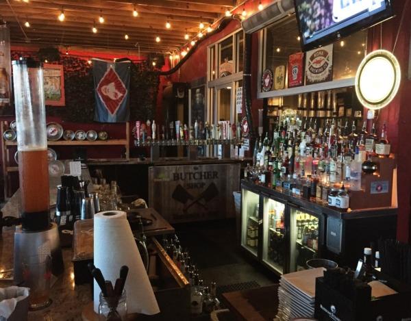 Bar at The Butcher Shop Beer Garden