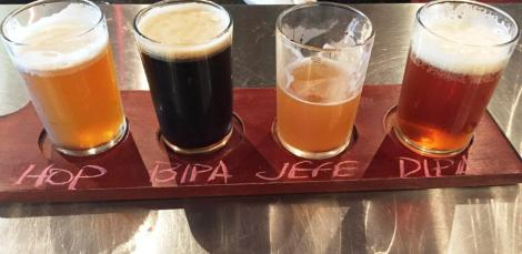 J Wakefield Brewing Flight 1