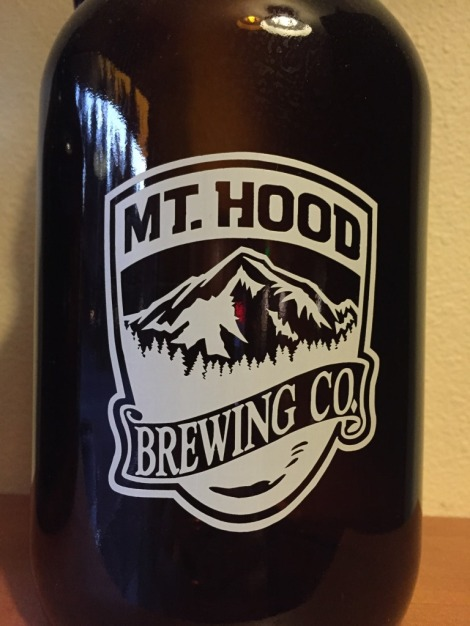 Mt Hood Brewing Company growler