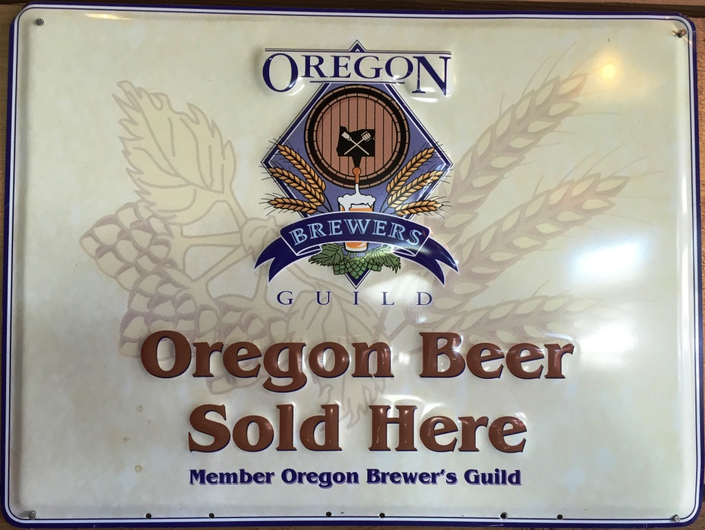 Oregon Beer Sold Here sign