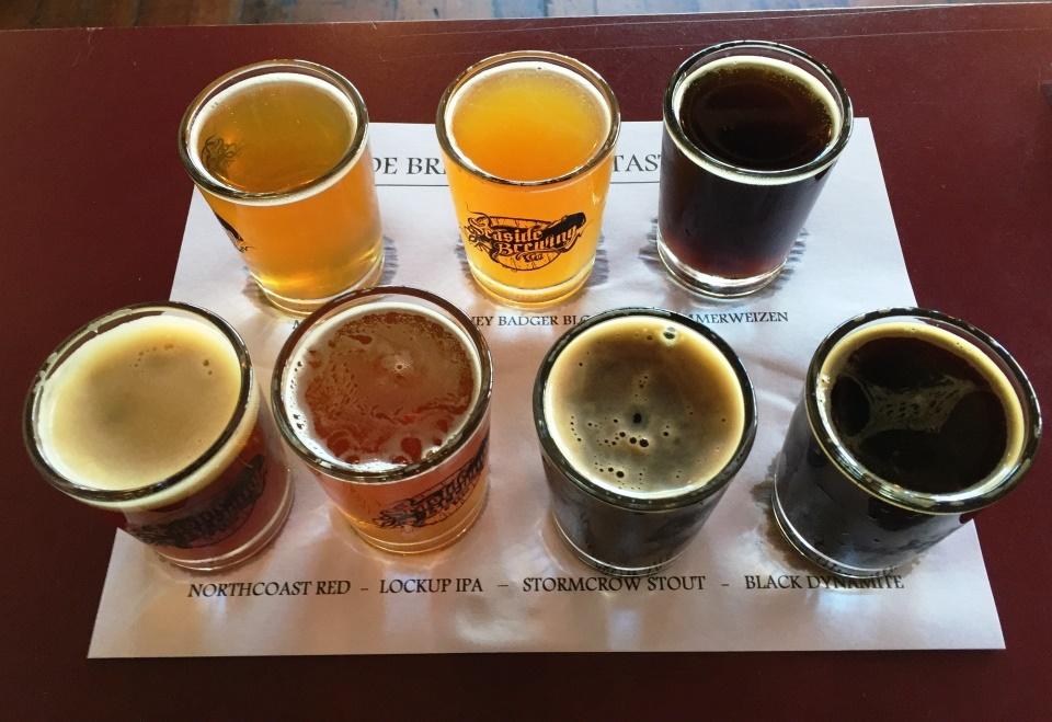 Seaside Brewing Company sampler