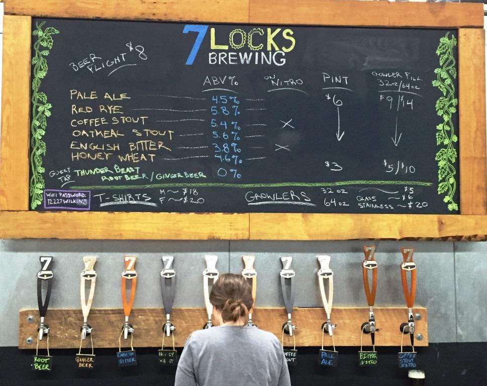 7 Locks Brewing Chalkboard