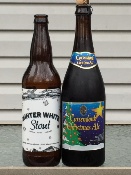 Winter White Stout and Corsendonk Christmas Ale