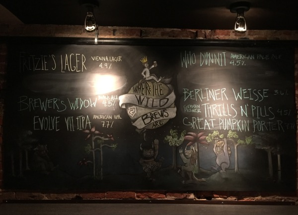 2nd Story Brewing Company chalkboard