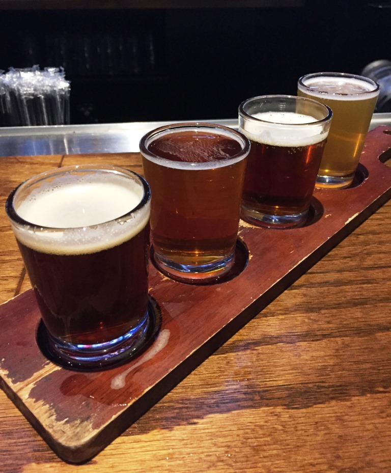 Brutopia Brewery and Kitchen sampler rack