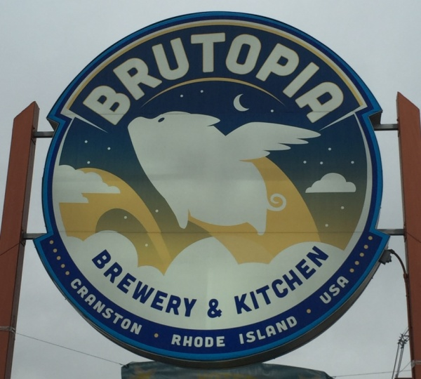 Brutopia Brewery and Kitchen sign