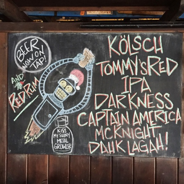 Trinty Brewhouse chalkboard