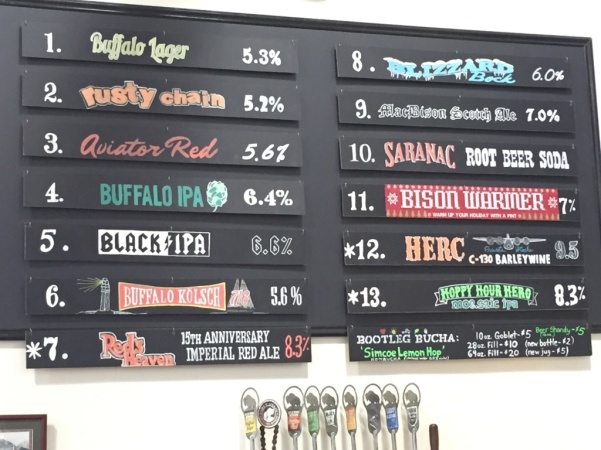 Flying Bison beer board