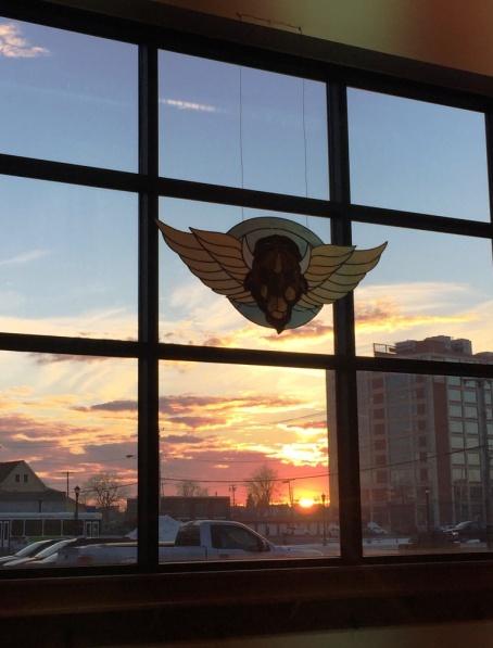 Flying Bison sunset