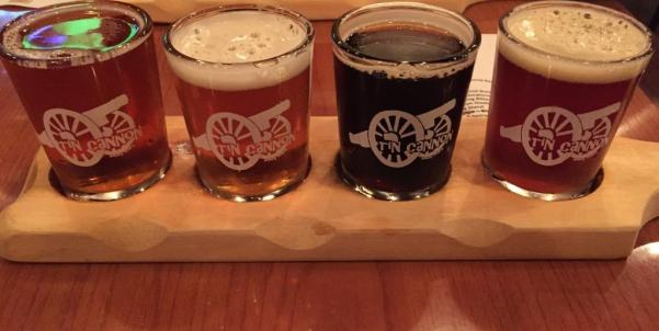 Tin Cannon Brewing Company sampler