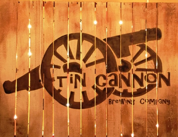 Tin Cannon Brewing Company Wood Sign