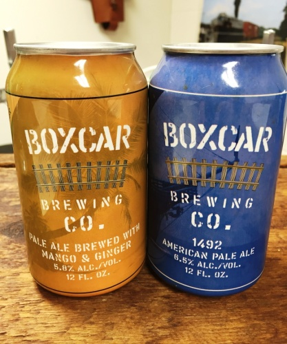 Boxcar Brewing Company Cans