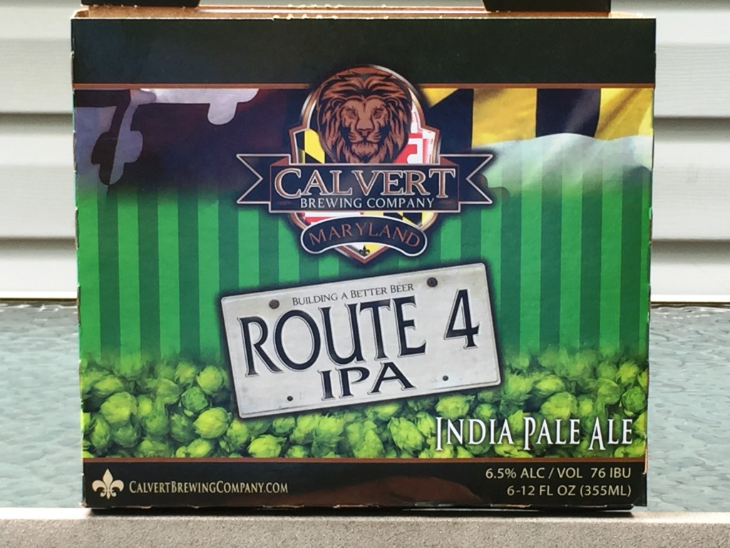 Calvert Brewing Company Route 4 IPA six-pack