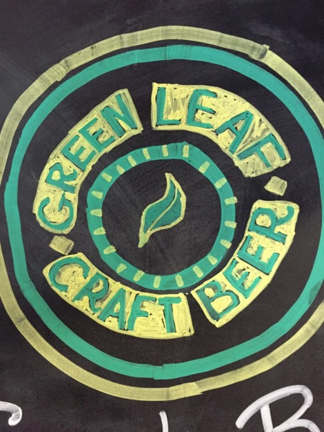 Green Leaf Brewing Company chalkboard3