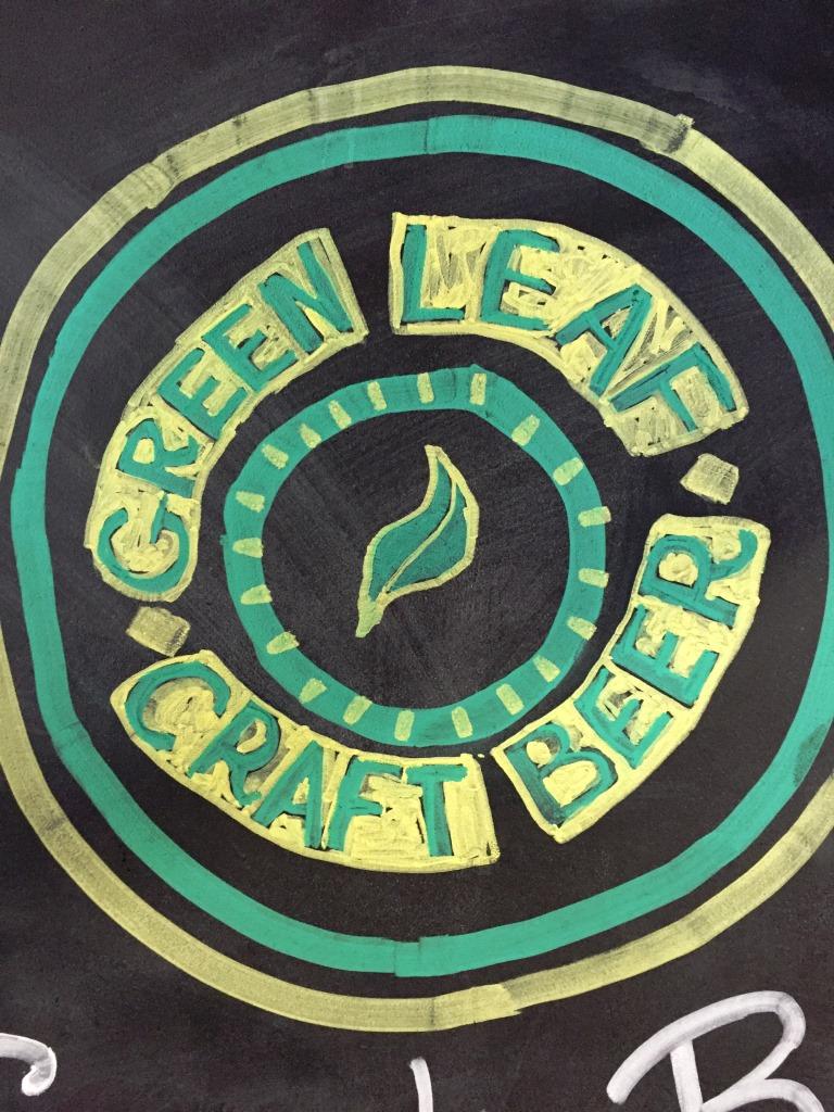 Green Leaf Brewing Company chalkboard3