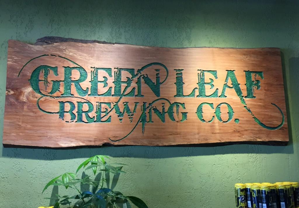 Green Leaf Brewing Company sign