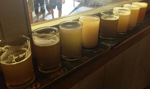 3 Stars Brewing flight
