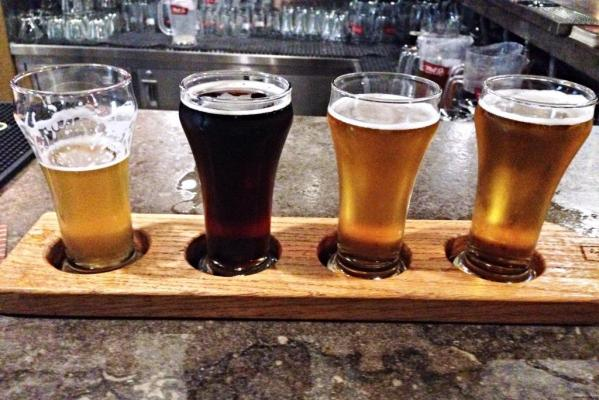 Mill St Brewpub flight