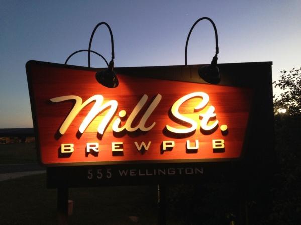 Mill St Brewpub sign