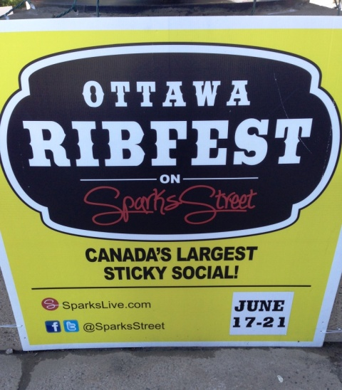Ottawa Ribfest sign
