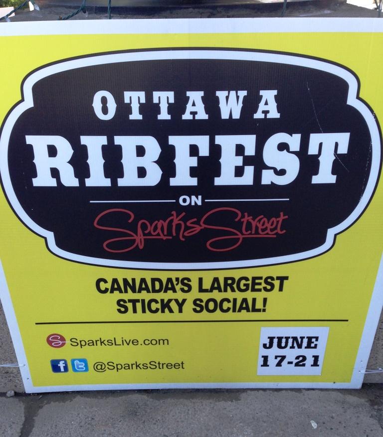 Ottawa Ribfest sign