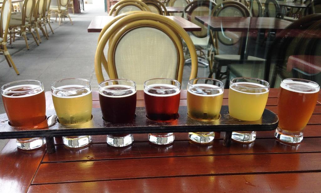 Three Brewers sampler rack