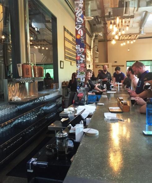 Caboose Brewing Company bar