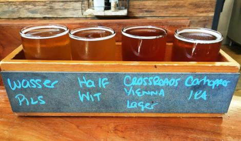 Caboose Brewing Company flight