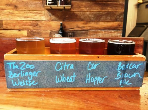 Caboose Brewing Company flight2