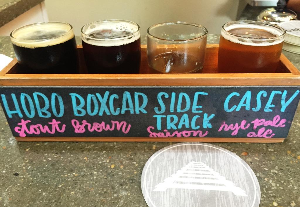 Caboose Brewing Company flight3