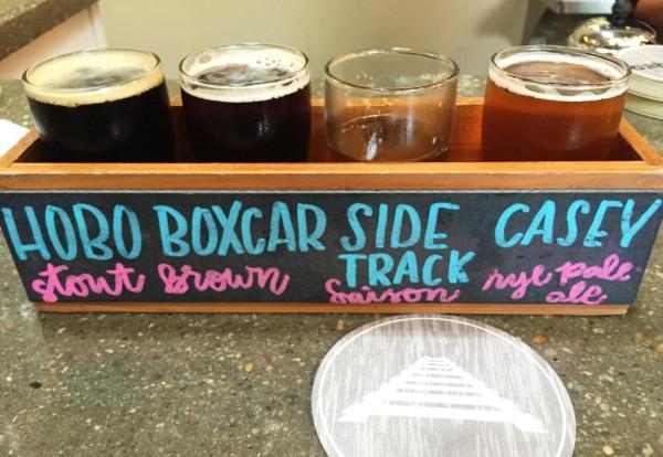 Caboose Brewing Company flight3