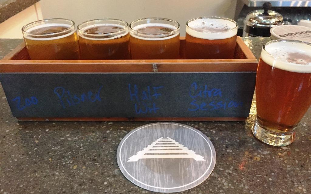 Caboose Brewing Company flight4