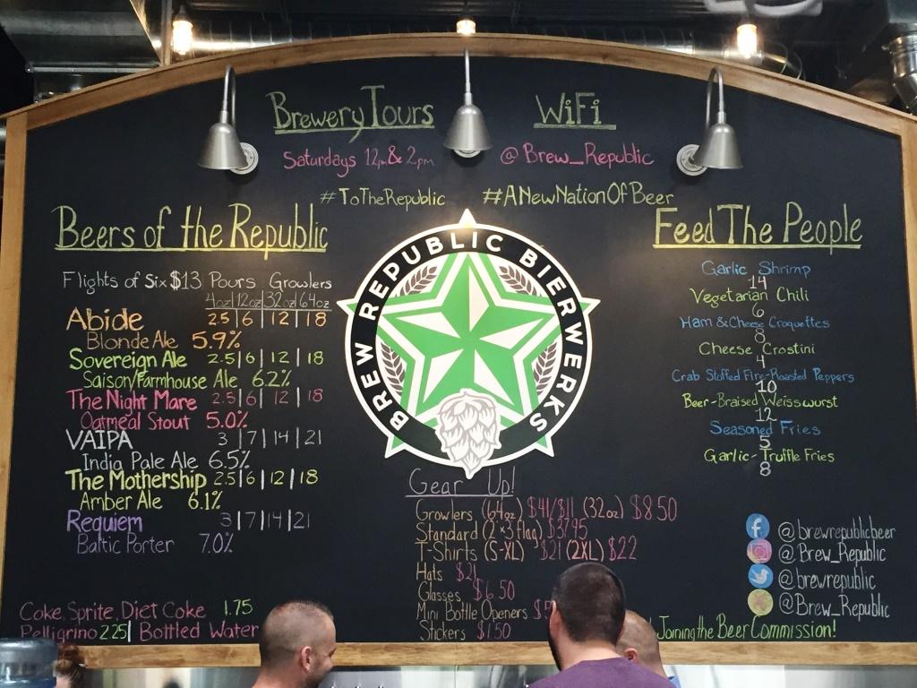 Brew Republic Bierwerks Chalkboard