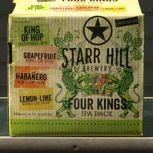 Starr Hill Brewery Four Kings IPA Pack