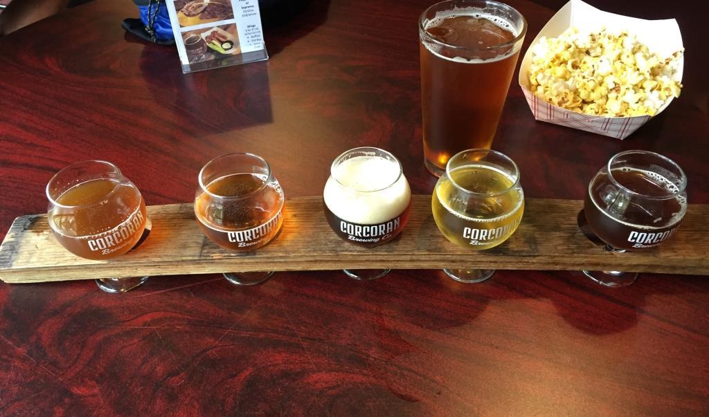 Corcoran Brewing Company flight