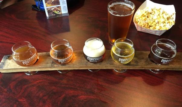 Corcoran Brewing Company flight