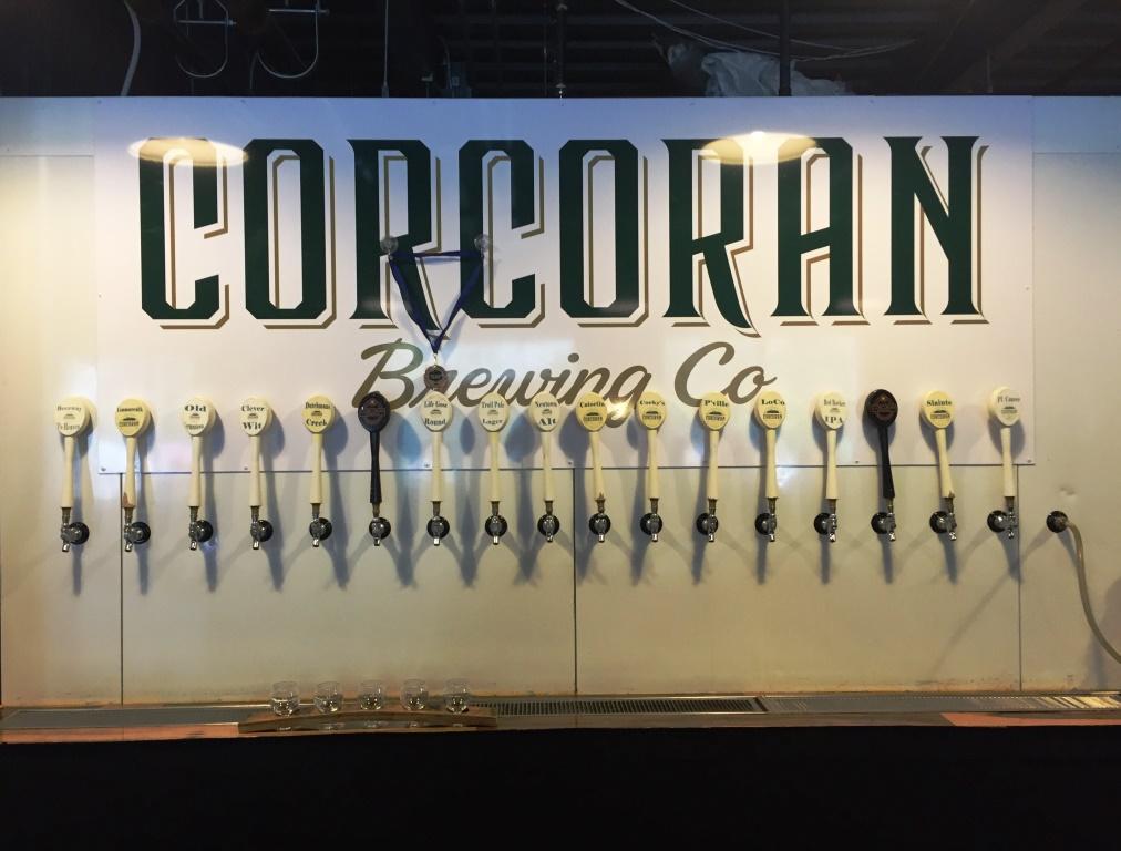 Corcoran Brewing Company taps