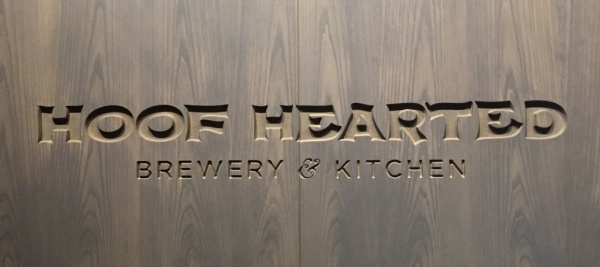 Hoof Hearted Brewery and Kitchen Sign